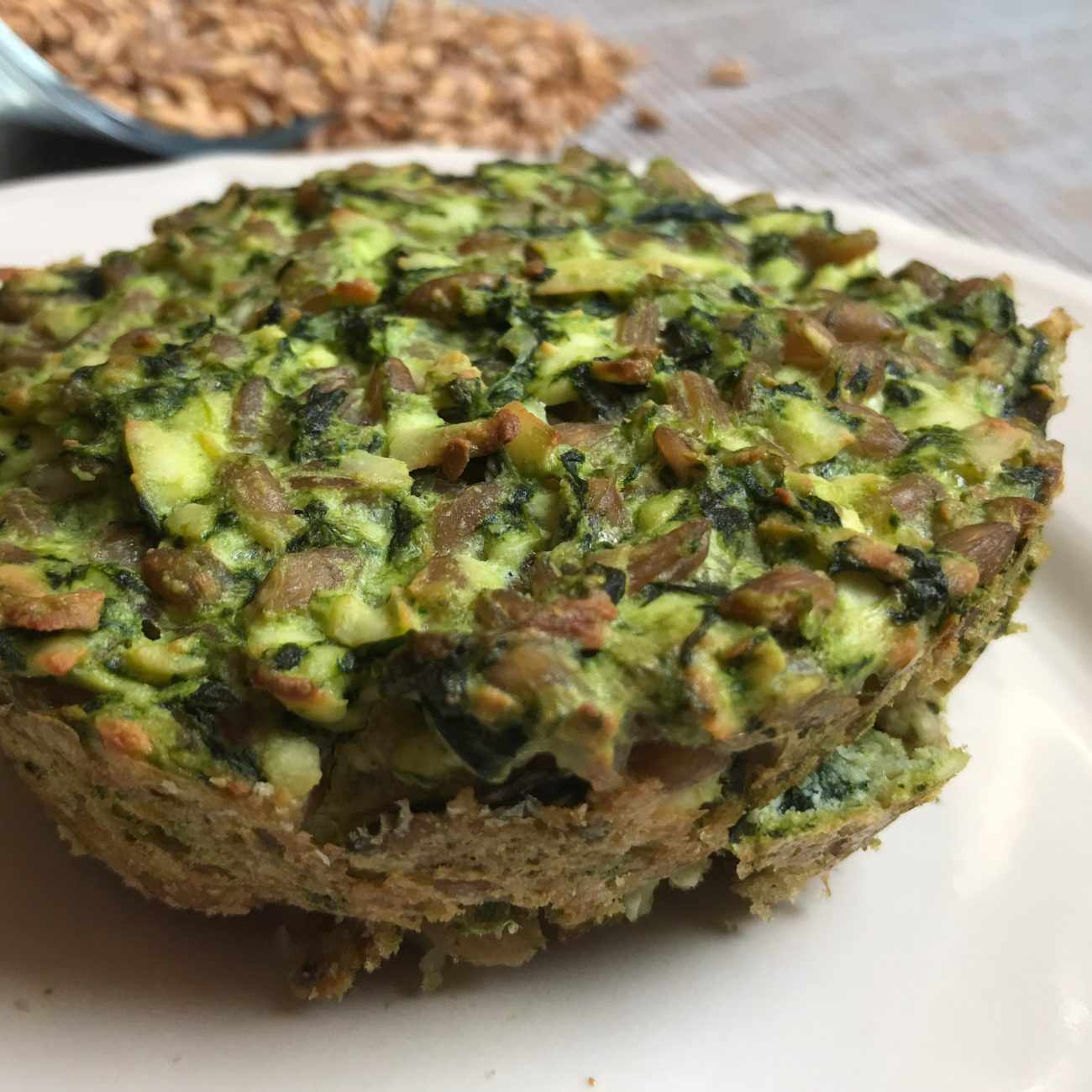 Flan al farro e spinaci: la cucina adatta al diabete