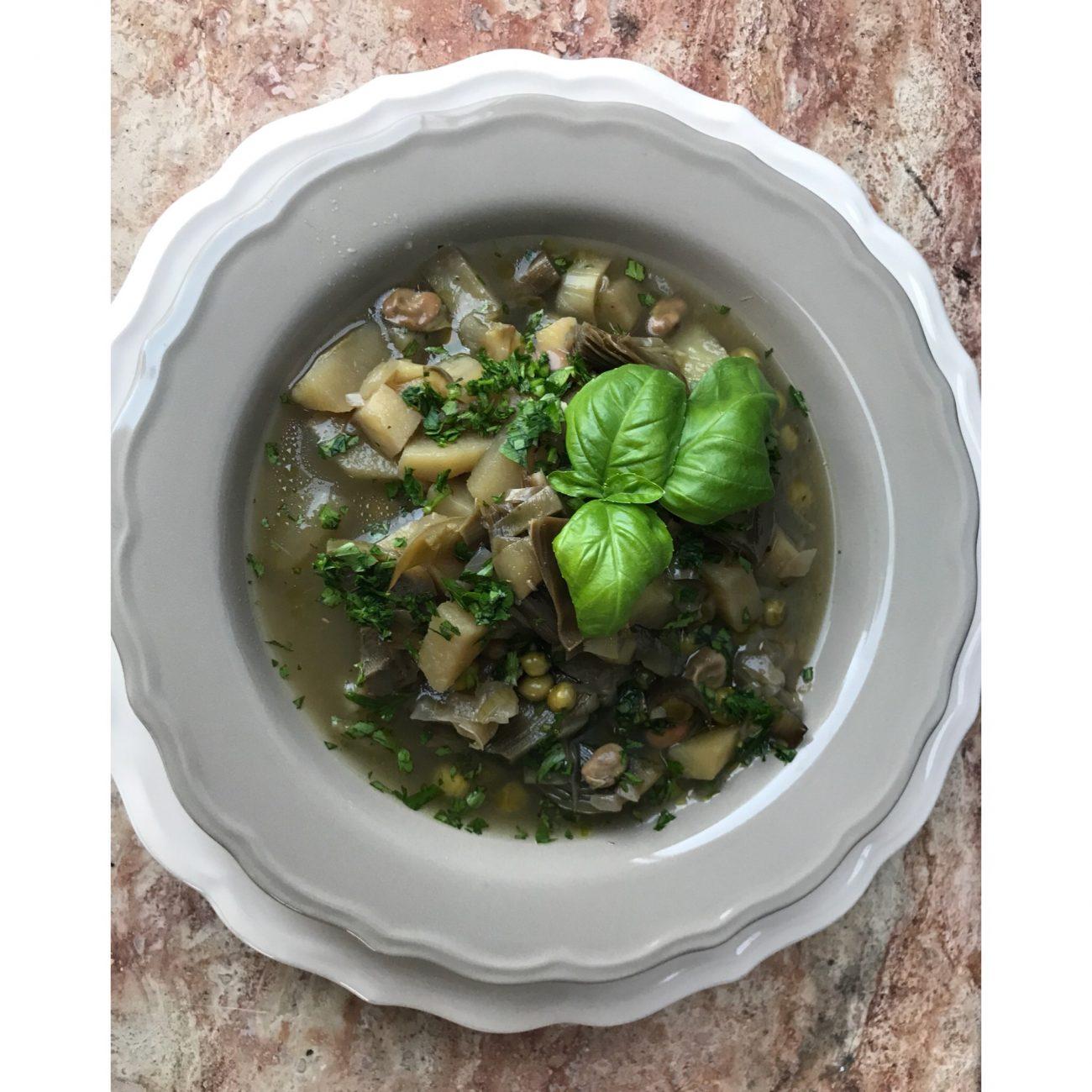 Zuppa verde di primavera